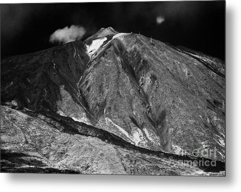 Europe Metal Print featuring the photograph looking up at the summit of el teide volcanic mountain parque nacional del teide Tenerife Canary Islands Spain third largest volcano in the world at 3715m by Joe Fox
