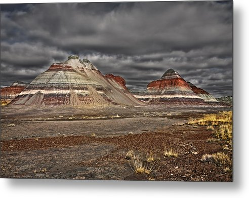 Painted Desert Metal Print featuring the photograph Painted Teepees by Medicine Tree Studios