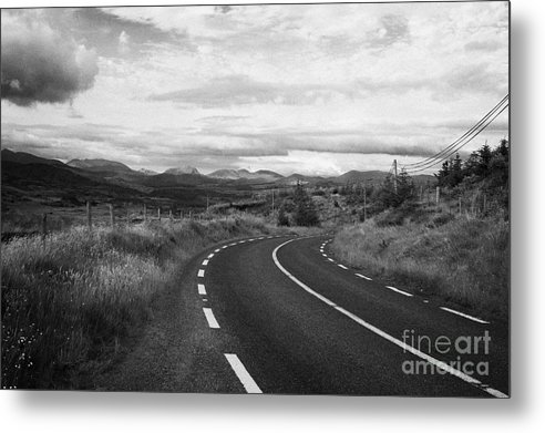 Ireland Metal Print featuring the photograph road leading to molls gap on the Iveragh Peninsula Ring of Kerry Ireland by Joe Fox