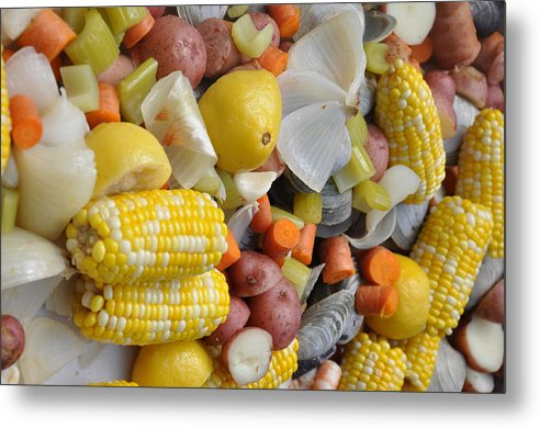 Beautiful Metal Print featuring the photograph Steamed Veggies by Reese Lewis