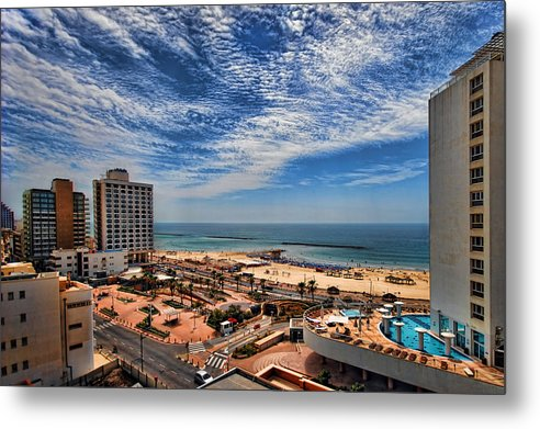 Israel Metal Print featuring the photograph Tel Aviv Summer Time by Ron Shoshani