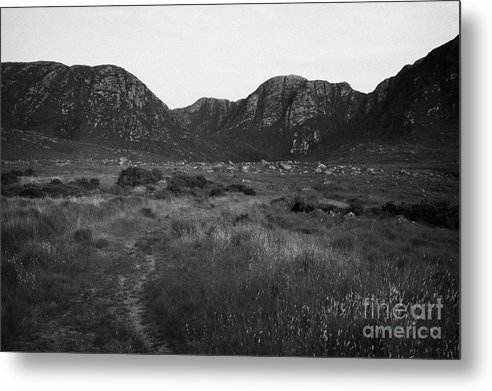 County Metal Print featuring the photograph the poison glen and slieve sneacht mountain glenveagh national park dunlewey county Donegal Republic of Ireland by Joe Fox