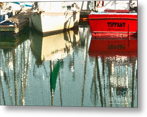 Boat Harbor Metal Print featuring the photograph Tiffany Sailed From San Francisco To Moss Landing by Artist and Photographer Laura Wrede