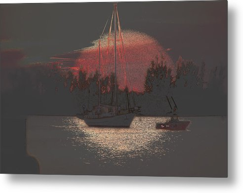 Vero Beach Metal Print featuring the photograph Tug Boat Pulls More Than Its Weight by Richard Hemingway
