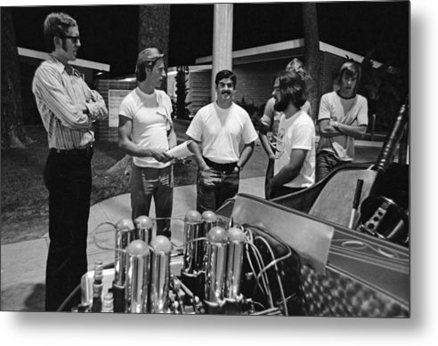 Fuel Injection Metal Print featuring the photograph Vn Blvd.-035-12 Injector Men by Richard McCloskey