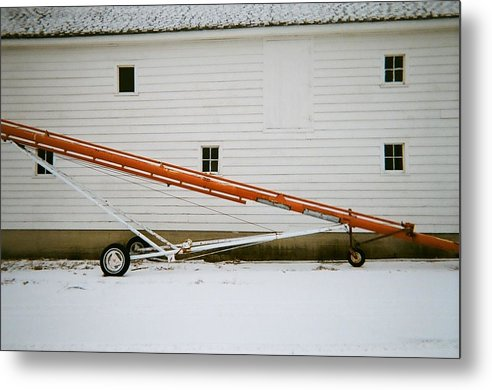 Old Barn And Farm Equipment Metal Print featuring the photograph Dissect by Todd Sherlock