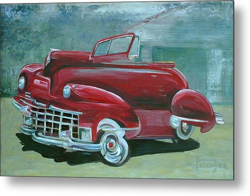 1947 Cadillac Metal Print featuring the painting Cadillac 47 by Gary Peterson