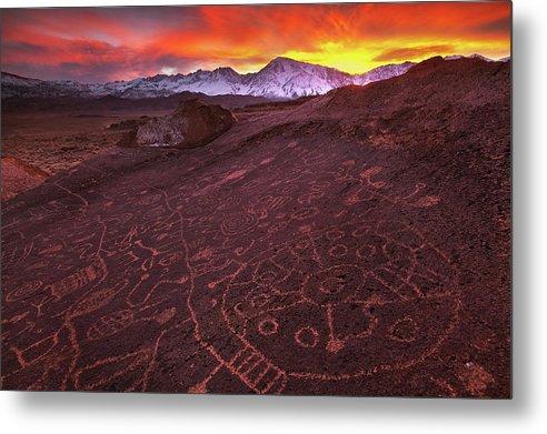 Eastern Sierra Metal Print featuring the photograph Eastern Sierra Petrolpyh Sunset by Nolan Nitschke