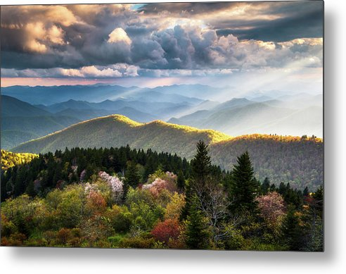 Great Smoky Mountains Metal Print featuring the photograph Great Smoky Mountains National Park - The Ridge by Dave Allen
