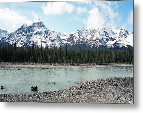 Landscape Metal Print featuring the photograph Mountain And Stone by Caroline Clark