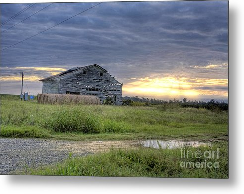 Old Metal Print featuring the photograph Old Country Barn by James Davidson