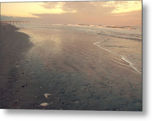 Sunset Metal Print featuring the photograph Sunset On Saint Augustine Beach by Christine Cousart