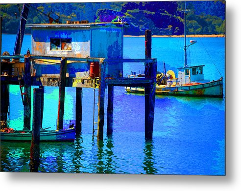 Metal Print featuring the digital art Two Boats by Danielle Stephenson