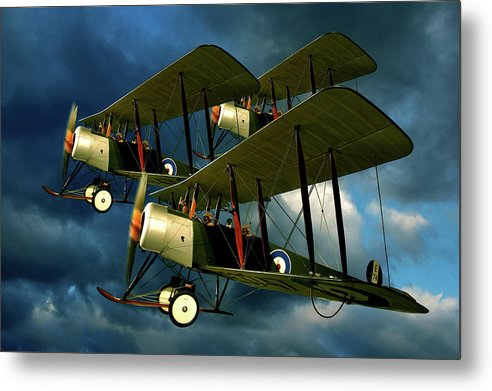 Bi Planes Metal Print featuring the photograph Up In The Air by Steven Agius