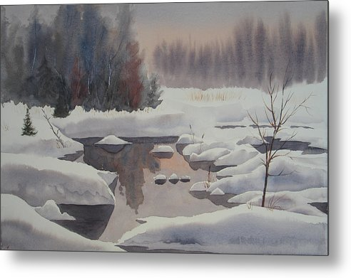Winter Metal Print featuring the painting Winter Magic by Debbie Homewood