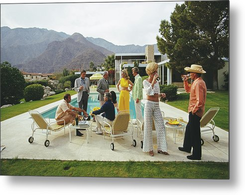 People Metal Print featuring the photograph Desert House Party by Slim Aarons