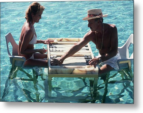 Straw Hat Metal Print featuring the photograph Keep Your Cool by Slim Aarons