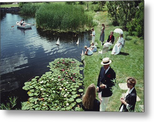 Straw Hat Metal Print featuring the photograph Summer Picnic by Slim Aarons