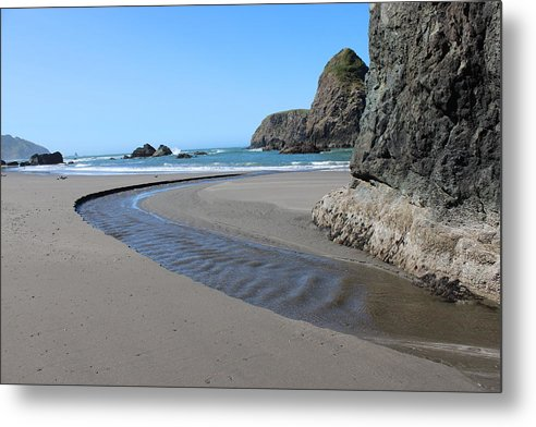 Stream Metal Print featuring the photograph Low Tide by Paul Shoaf