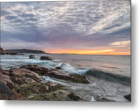 Acadia National Park Metal Print featuring the photograph Morning Splash by Jon Glaser