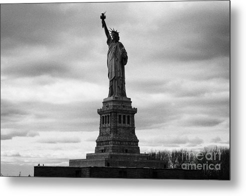 Usa Metal Print featuring the photograph Statue Of Liberty National Monument Liberty Island New York City by Joe Fox