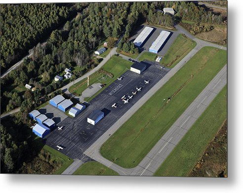 America Metal Print featuring the photograph Wiscasset Airport, Wiscasset by Dave Cleaveland