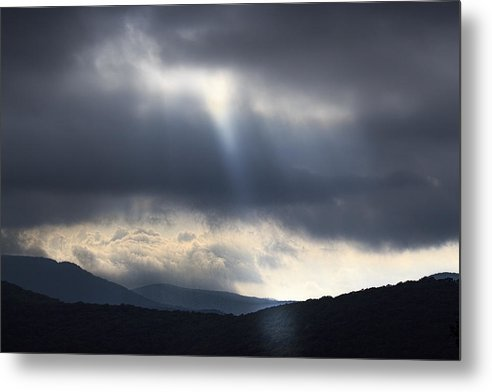 Nature Metal Print featuring the photograph Light Over The Blueridge Parkway by Chris Stricklin