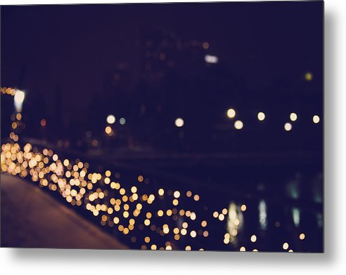Baltimore Photography Metal Print featuring the photograph Baltimore Bridge Bokeh by Katie Howell