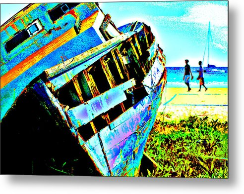 Boat Metal Print featuring the photograph Beached by Winston Edghill