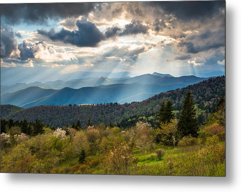 Blue Ridge Parkway Metal Print featuring the photograph Blue Ridge Parkway North Carolina Mountains Gods Country by Dave Allen