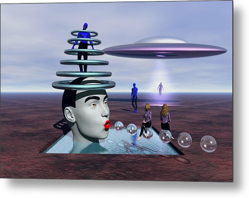 Surrealism Metal Print featuring the painting Conversion Of Man by Robert Maestas