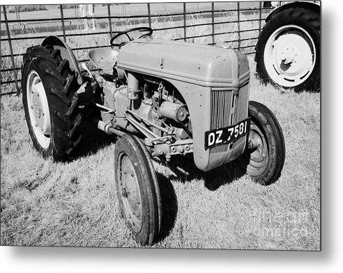 County Metal Print featuring the photograph Ford Ferguson Classic Tractor During Vintage Tractor Rally At Glenarm Castle Open Day County Antrim Northern Ireland by Joe Fox
