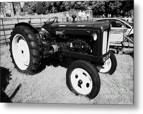 County Metal Print featuring the photograph Fordson Major Diesel Classic Tractor During Vintage Tractor Rally At Glenarm Castle Open Day County Antrim Northern Ireland by Joe Fox
