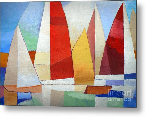 I Am Sailing Metal Print featuring the painting I Am Sailing by Lutz Baar