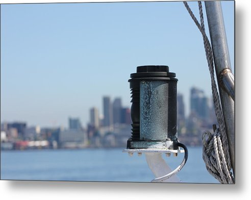 Seattle Metal Print featuring the photograph Marker Light by Jonathan Moore