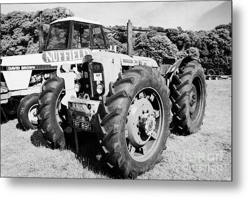 County Metal Print featuring the photograph Nuffield Bray 4 1060 Classic Tractor During Vintage Tractor Rally At Glenarm Castle Open Day County Antrim Northern Ireland by Joe Fox
