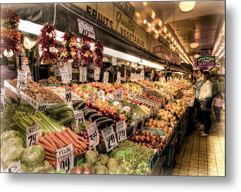Seattle Metal Print featuring the photograph Pike Place Veggies by Spencer McDonald