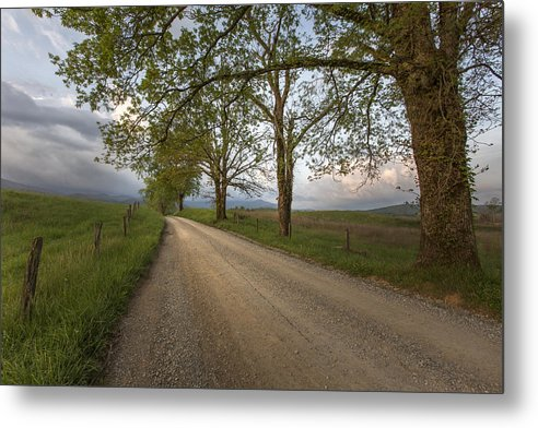 Horizontal Metal Print featuring the photograph Road Not Traveled II by Jon Glaser