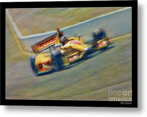 Ryan Hunter-reay Metal Print featuring the photograph Ryan Hunter-reay by Blake Richards