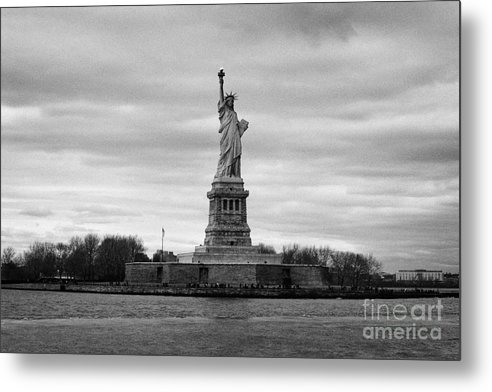 Usa Metal Print featuring the photograph Statue Of Liberty Liberty Island New York City by Joe Fox
