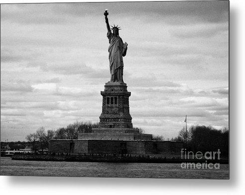 Usa Metal Print featuring the photograph Statue Of Liberty Liberty Island New York City Usa by Joe Fox