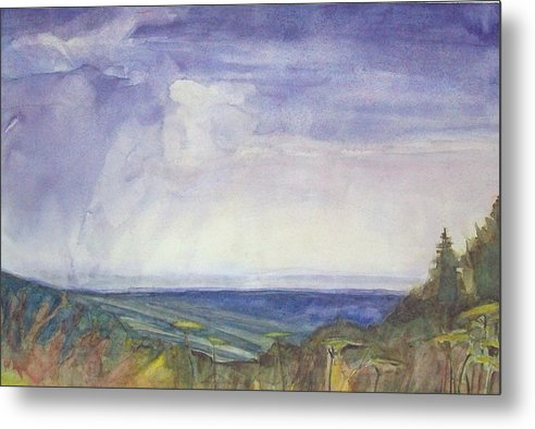 Summer Storm Metal Print featuring the painting Storm Heaves - Hog Hill by Grace Keown