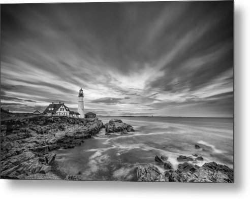Horizontal Metal Print featuring the photograph The Motion Of The Lighthouse by Jon Glaser