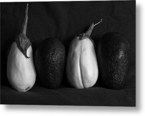 Solanum Melongena Esculentum Metal Print featuring the photograph White Eggplant by Robert Bermea