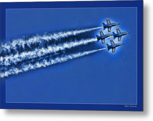 Art Photography Metal Print featuring the photograph Blue Angels Liftoff by Blake Richards