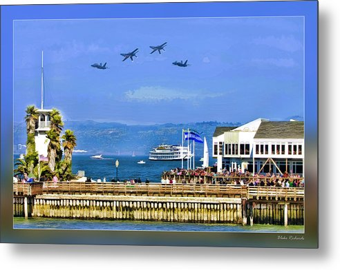 Art Photography Metal Print featuring the photograph Blue Angels San Francisco Wharf by Blake Richards