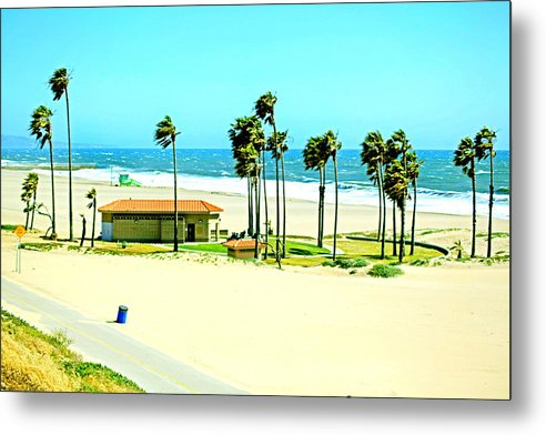 Libra.love.freedom Metal Print featuring the photograph La Playa by D Wash