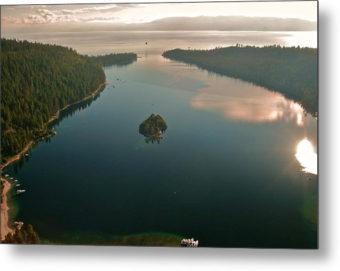 Emerald Metal Print featuring the photograph Emerald Bay Lake Tahoe by Steven Lapkin