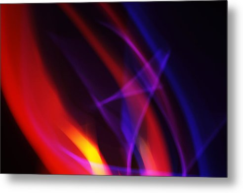Abstract Metal Print featuring the photograph Painting With Light 6 by Chris Rodenberg