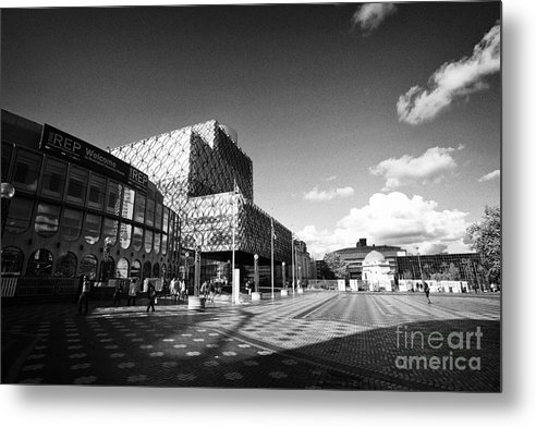Birmingham Metal Print featuring the photograph Birmingham City Library In Centenary Square Uk by Joe Fox